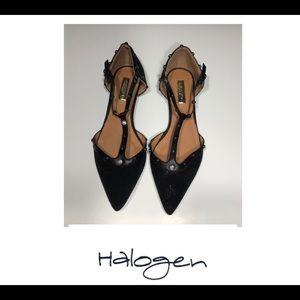 ⚡️⚡️Halogen Olson Pointy Toe Studded T Strap Flats